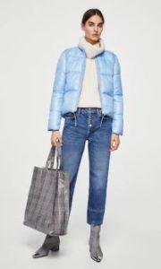 Hermoso plumífero para mujeres marca Mango ideal para lucir a la moda en invierno.